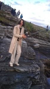 Kretsleder fra byen besøker villmarks-Tromsø og fisker.