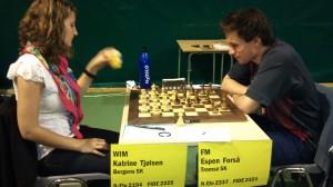 WIM Katrine Tjølsen kom fra Brasil.